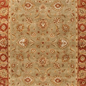 12 x15  Area Rug Rectangle Taupe Red Handmade Hand-Tufted Traditional  World Bazaar Exotics