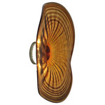 """Dale Tiffany - Amber Handover LED Glass Wall Light, 16"""" - The Amber Handover LED Glass Wall Light is lighting that doubles as art for your home. Use it alongside the 20-inch variation and the LED-less version for an interesting display."""