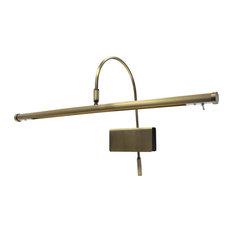 """Cocoweb Inc. - 19"""" LED Grand Piano Lamp, Antique Brass - Piano Lamps"""