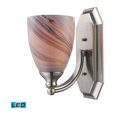 Elk Lighting 570-1N-LED 1 Light LED Bathroom Sconce From The - Nickel