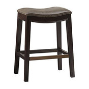 Madison Park Belfast Saddle Counter Stool, Mushroom