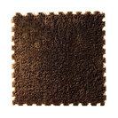 10 Pcs Mosaic Mats Home Plush Childrens Floor Mats Coffee Table Mats, Dark Brown
