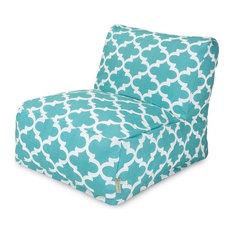 Trellis Bean Bag Chair, Teal, Lounger