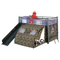 Emma Mason Signature Julian Youth Twin Tent Loft Bed COA0082, Black, Camouflage