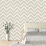 """ZigZag Wallpaper, Beige, 25"""" X 4.5' - """"Swag Paper - Empowering the Do-It-Yourselfer:"""