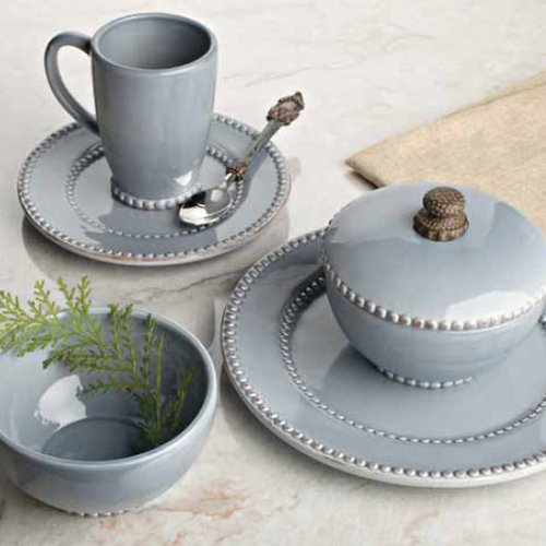 Livingstone Dinnerware Collection in Blue by The GG Collection - Dinnerware & The GG Collection brought to you by Iron Accents