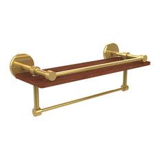 "16"" IPE Ironwood Shelf, Gallery Rail and Towel Bar, P1000-1TB-16-GAL-IRW-PB"