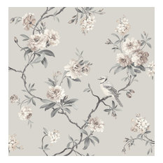 Chinoiserie Stone Floral Wallpaper Bolt