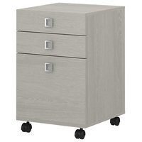 Office by Kathy Ireland Echo 3 Drawer Mobile File Cabinet, Gray Sand
