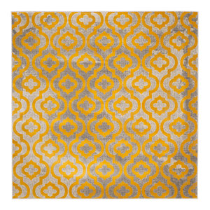 3 x 5 Safavieh Porcello Collection PRL7738C Dark Grey and Yellow Modern Abstract Area Rug