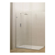 """Milan Stationary Panel Shower Screen, Clear Glass, Oil Rubbed Bronze, 30x76"""""""