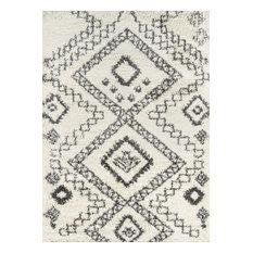 "Maya 2"" Thick Pile, Berber-Style Rug, Ivory, 9'3""x12'6"""