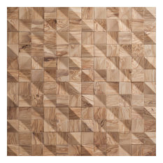 Waves - Reclaimed Wood Tiles by Wonderwall Studios (10.33 sq ft)