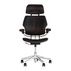 Humanscale Freedom Leather Office Chair, Black