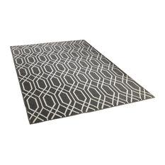 Havana Grey Rectangle Modern Rug, 120x170 cm