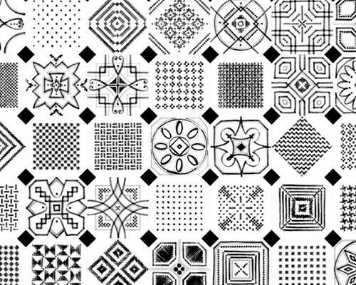 Octogono Variette Sombra - Wall & Floor Tiles