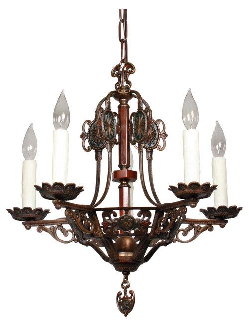 antique spanish revival lighting