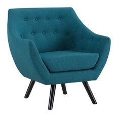 Modern Contemporary Urban Design Living Lounge Room Armchair Blue Fabric