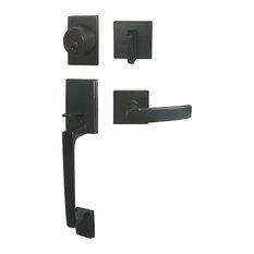 EBuilderDirect   Square Contemporary Door Lever, Style 8048, Dark Oil  Rubbed Bronze, Handleset