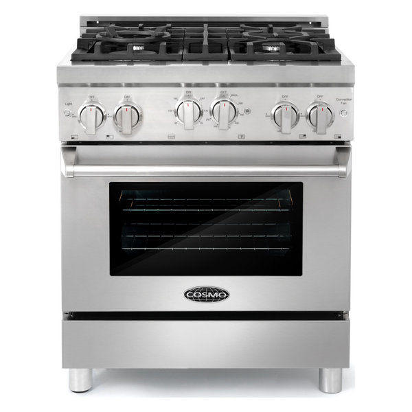 "Professional Style 30"" 3.9 cu. ft. Euro Gas Range w/ 4 Italian Burners"
