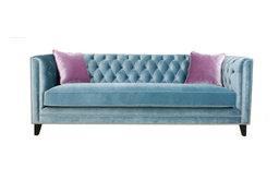 Pasargad Victoria Velvet Sofa Collection, Blue