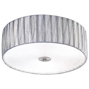 Lucera 3-Light Satin Nickel Flush Ceiling Light