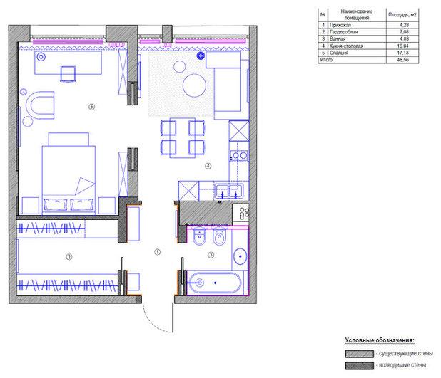 Внутренний план by Дизайн-бюро Татьяны Алениной
