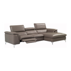 JNM Furniture   Angela Italian Leather Sectional Sofa With Power Recliner,  Right Hand Facing