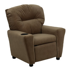 Kids Recliner With Cup Holder, Brown