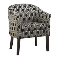 Pemberly Row Accent Arm Chair in Chenille Geometric Print