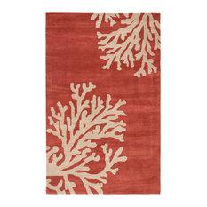 Jaipur Living Bough Handmade Abstract Coral/Tan Area Rug, 8'x11'