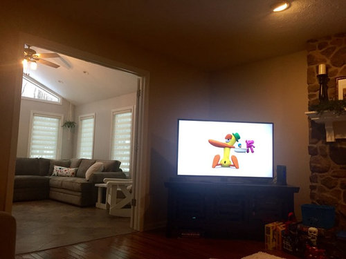 Help decorating above TV