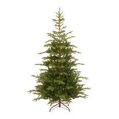 National Tree Company - 7 1/2' Feel Real Norwegian Spruce Hinged Tree - Christmas Trees