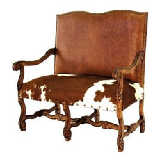 Cowhide and Leather Settee