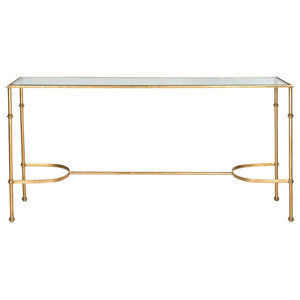 Safavieh Xavier Console, Gold and Clear Glass