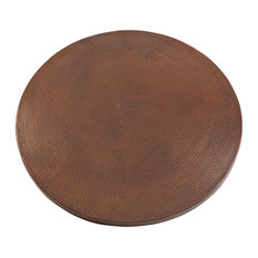 "Premier Copper Products TTR30DB 30"" Round Hammered Copper Table Top Only"