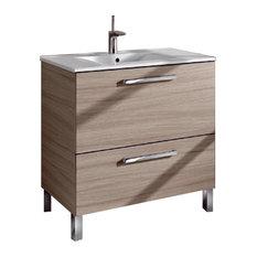 Urban 80 Bathroom Vanity Unit, 80x45 cm, Oak