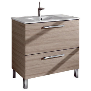 Urban 80 Bathroom Vanity Unit, 80x45 cm, Oak