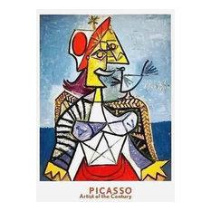 Femme a L'Oiseau, 1999 Exhibition Poster, Pablo Picasso