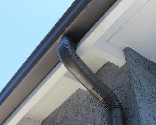Weathered Bronze K Style Rain Gutters In Sherman Oaks