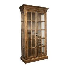 Riverside Furniture Hawthorne 5 Shelf Curio Cabinet, Barnwood