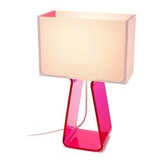 "Tubetop 14"" Table Lamp, Hot Pink"
