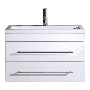 Emotion Mars 800 Bathroom Furniture, 80 cm, White High-Gloss
