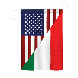 Us Italian Friendship 2 Sided Vertical Impression House Flag Contemporary Flags And Flagpoles By Breeze Decor