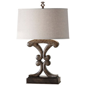 1-Light Table Lamp, Weathered Black