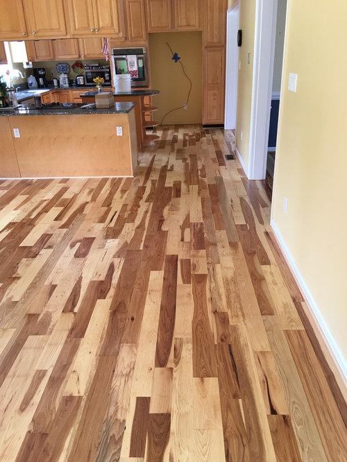 Hickory Random Width Hardwood Floors