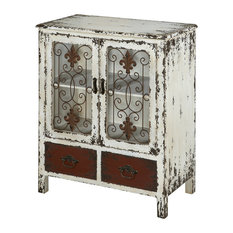 Parcel 2-Door 2-Drawer Console White