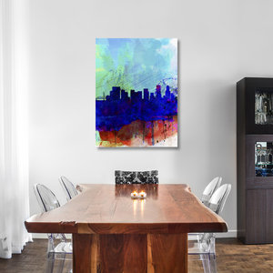 """Portland Watercolor Skyline"" Fine Art Print"