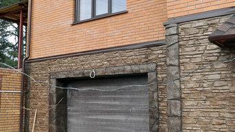 Декоративная отделка под камень цоколь и забор в п.Дзержинское