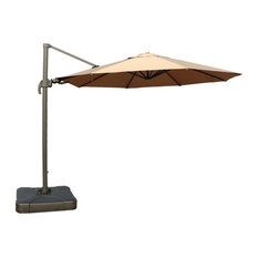 11 Feet Cantilever Umbrella with Carry Bag and Base, Taupe